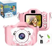 E'loir® Digitale Kindercamera inclusief Micro SD Kaart 32GB - Compact Fototoestel voor Kinderen - 1080p HD - Vlog Camera  - Roze