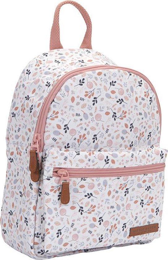 Rugzak - Bloemetjes - Wit/Roze