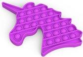 Fidget Toy Pop it | Paarse Unicorn | Stress Verlagend | Fidget Popper | Fidget Speelgoed | Fidget Toys Pop it Tiktok | Fidget Pad