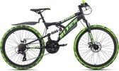 Ks Cycling Fiets Kinderfiets MTB 24 '' Bliss Pro zwart-groen - 38 cm