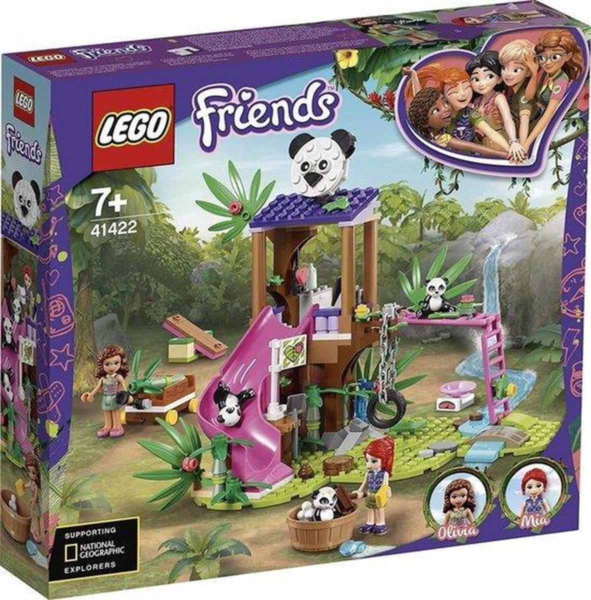 LEGO Friends Panda Jungle Boomhut - Creer je eigen speelwereld - legoworld voor kinderen geschenken - speelgoed - cadeau - kerst - feestdagen - kindergeschenken - kerst 2020 playmobil lego kerst