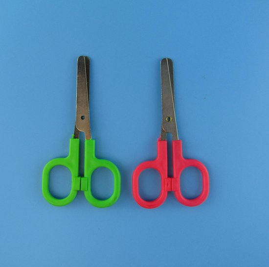 Schaar - Kinderschaar - Budget - 10.5 cm - 2 stuks - Willekeurige kleur -