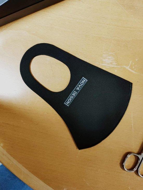 Mondkapje wasbaar - Wasbaar mondkapje - Geschikt voor ov en openbare ruimtes - Zwart - Nova Design
