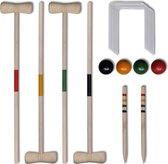 vidaXL Croquetspel voor 4 spelers hout