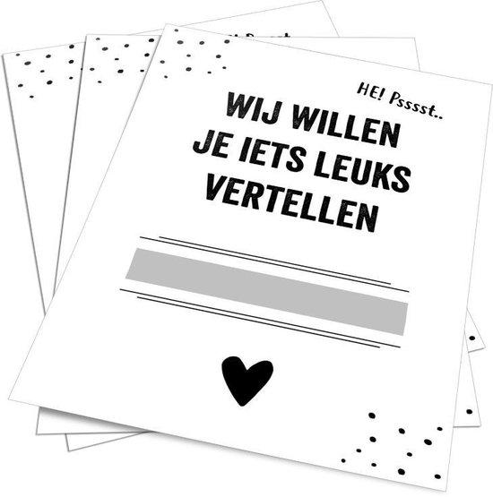 Kraskaart - Zwanger - 5 stuks - Prints Charming