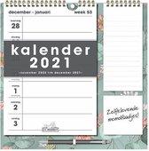 Hobbit Weekkalender Memo Rechts D2 2021 30x30cm