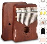 Kalimba set - 17 tonen - Duimpiano - Muziekinstrument - Mahoniehout - Cadeau voor man en vrouw - Voor kinderen en volwassenen