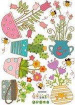 raamstickers bloemen -  raamfolie - raamdecoratie - raamversiering - zelfklevende raamstickers - Blijderij