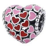 Zilveren Bedels Liefde | Bedel Hart met kleine hartjes | 925 Sterling Zilver | Bedels Charms Beads | Past altijd op je Pandora armband | Direct snel leverbaar | Miss Charming