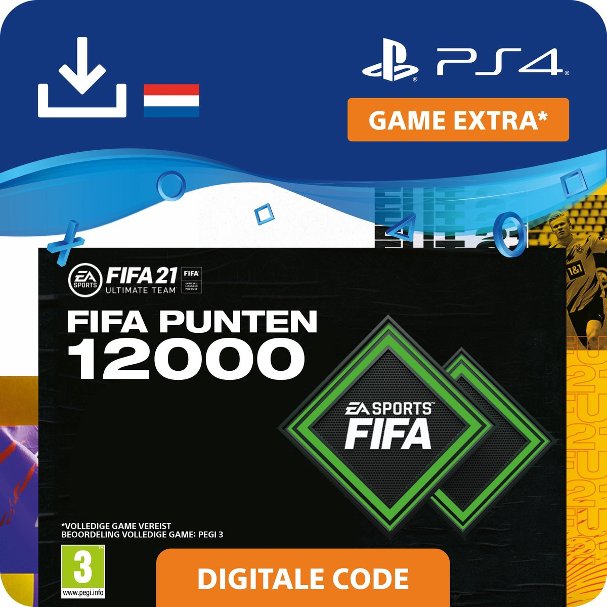 12.000 FUT Punten - FIFA 21 Ultimate Team - In-Game tegoed   PS4/PS5 Download - NL