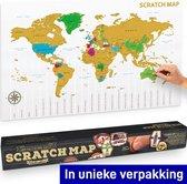 MikaMax - Scratch Map - Kras Wereldkaart - Kras Wereldkaart Poster - Wereld Kras Kaart - World Map - World Stratch Map - Kras Kaart - Groot - 88 x 55 cm