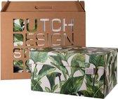 Dutch Design Brand - Dutch Design Storage Box - Opberdoos - Groene bladeren - Green Leaves