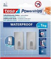 tesa Powerstrips® Waterproof haken S metaal rechthoekig