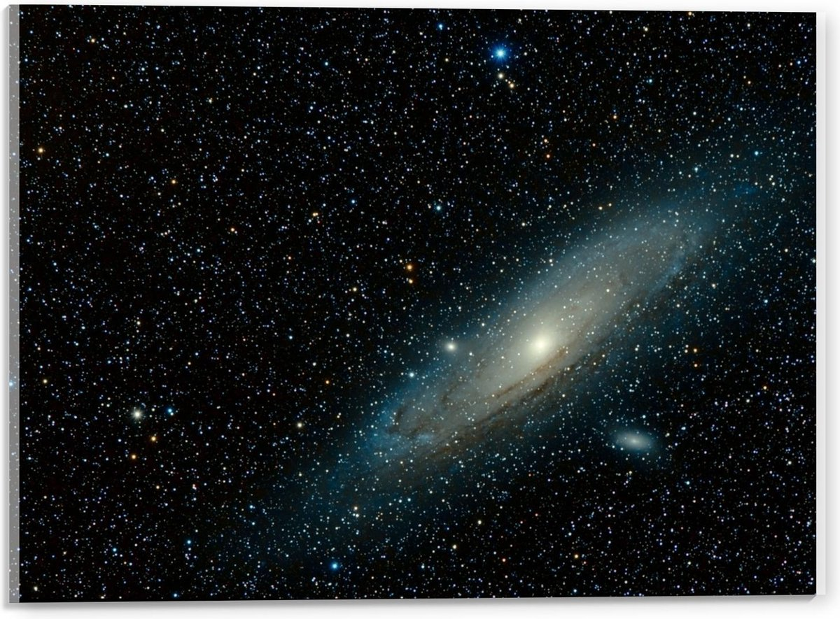 Plexiglas - Sterrenhemel met Galaxy - 40x30cm Foto op Plexiglas (Met Ophangsysteem)