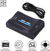 Scart naar HDMI Adapter - Full HD - 720P / 1080P - Plug & Play - Scart Schakelaar - Zwart