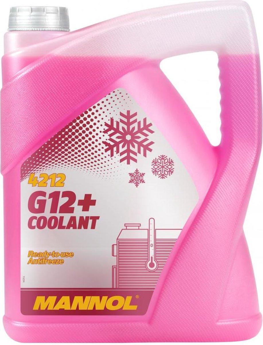 Mannol G12+   Koelvloeistof -30 °C   Roze   Ready to use   5 Liter