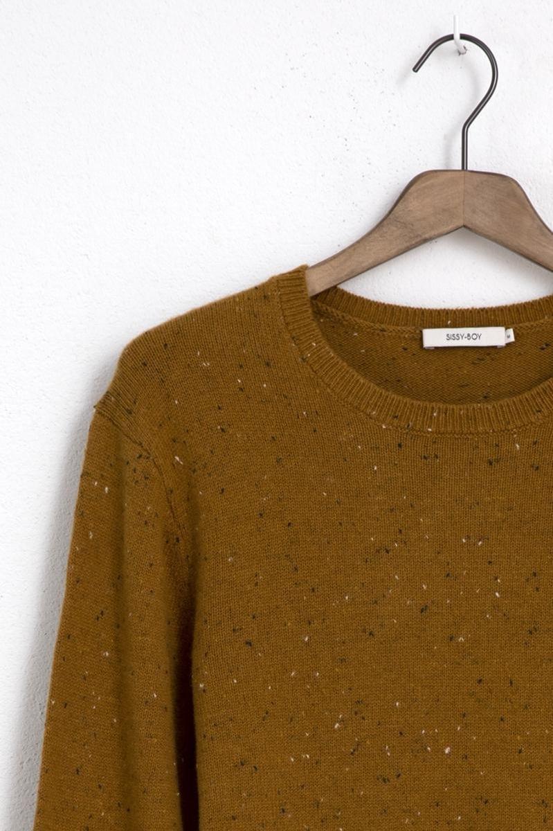 Sissy-Boy - Mosterdgele trui met gebreide details