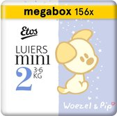Etos Woezel & Pip Luiers Mini Maat 2 - 3-6 kg - 156 stuks (3 x 52 stuks)