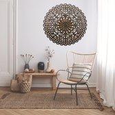 Liviza muurdecoratie hout – Woonkamer wanddecoratie - Mandala - 90 cm - muurdecoratie woonkamer - wanddecoratie woonkamer - decoratieve accessoires - woondecoratie