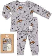 Feetje Premium Sleepwear Pyjama Roar Riley - Grijs Melange MT. 86