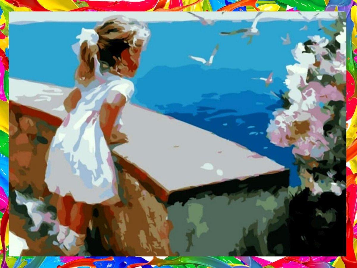 Schilderen Op Nummer - Painting By Number - Kleuren Op Nummer - Hobby - 40x50cm - Kind - Zee - Ayana's®