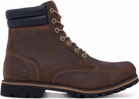 Timberland Foraker 6 Inch WP Heren Veterboots - Dark Brown - Maat 40
