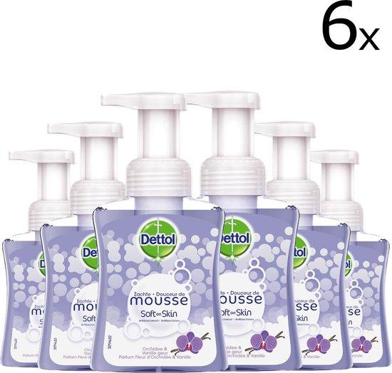 Dettol Handzeep Zachte Mousse - Antibacterieel - Orchidee & Vanille - 6 x 250 ml