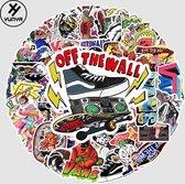 Vans stickers – Skate stickers - 51 stuks – Skateboard stickers – Skateboard volwassenen – Merk stickers – Laptop stickers - Stickers kinderen - Stickers volwassenen