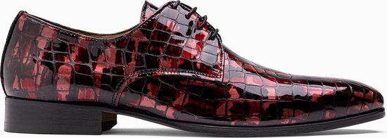 Paulo Bellini Dress Shoe Carbonia Crocolack Red