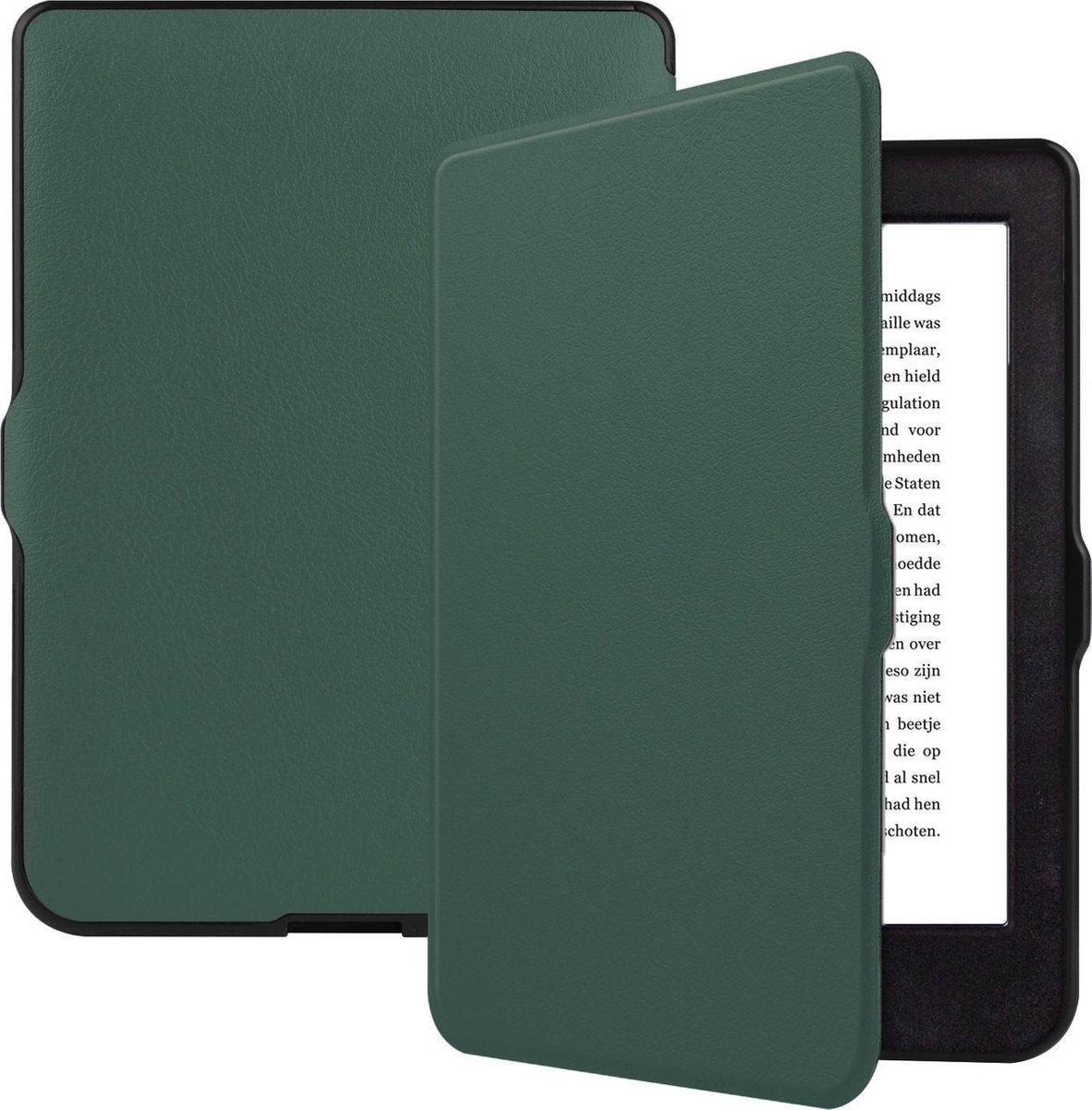 Kobo Nia Hoesje Bescherm Hoes Sleep Cover Luxe Case - Donker Groen