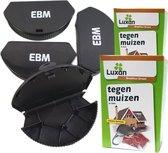 Voordeelpakket Muizen bestrijden  4x Muizenlokdoos  en 4 porties Muizengif
