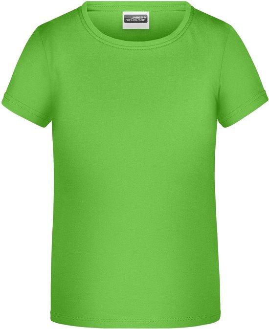 James And Nicholson Childrens Girls Basic T-Shirt (Kalk groen)