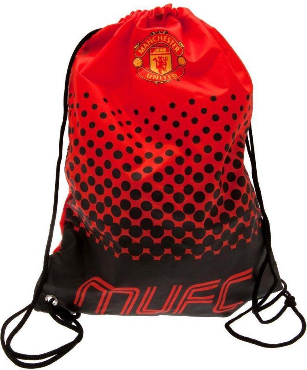 Manchester United FC Fade Design Tekenreeks Gymnastiekzak (Rood/zwart)
