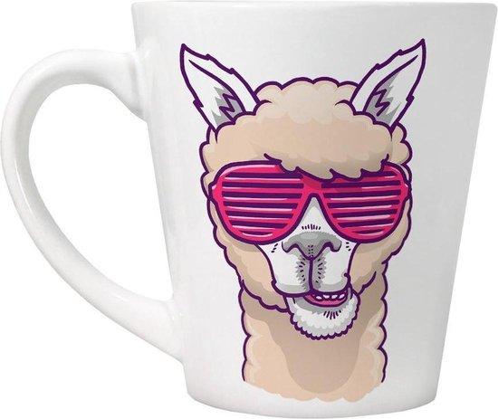 Grindstore Deze Llama heeft geen Drama Latte Mok nodig. (Wit)