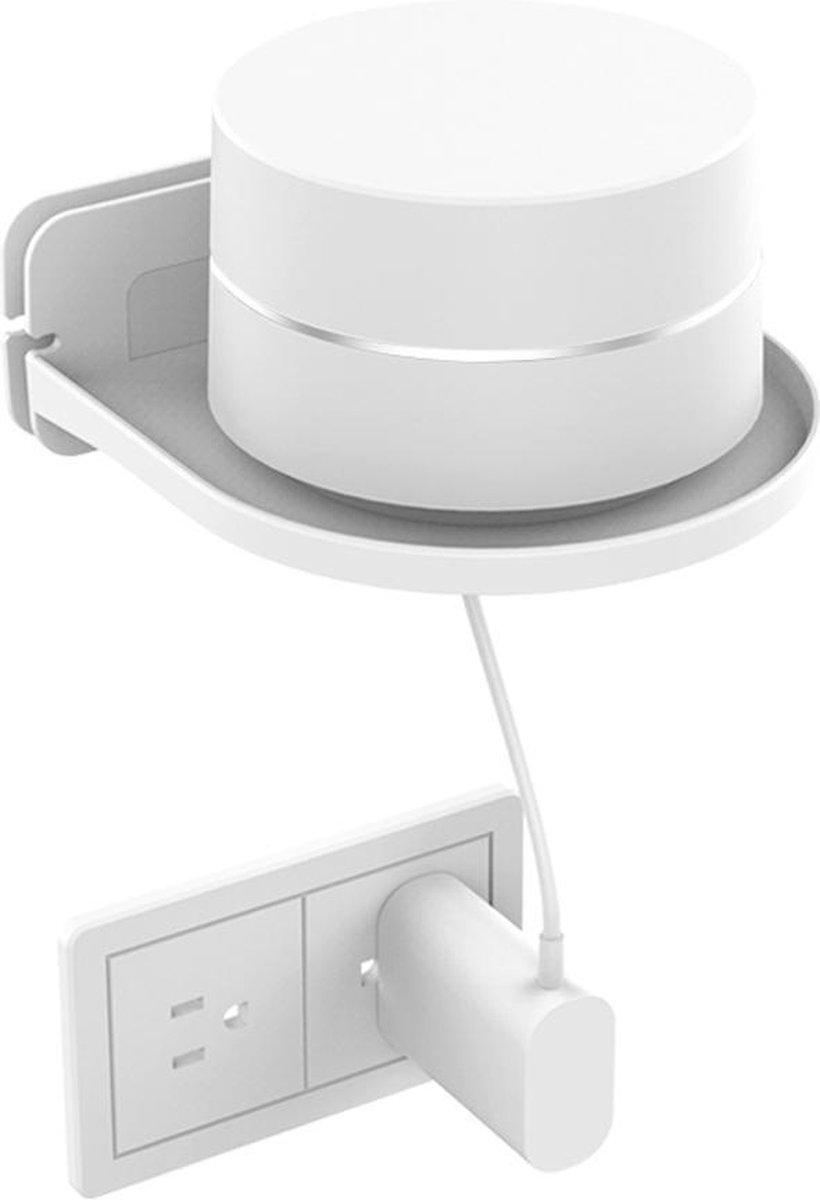 Muurbeugel voor Smart Speaker - Wall Mount Universeel - Wandplank Zwevend - Wit