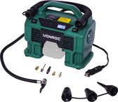 VONROC Accu compressor – VPower 20V (losse body) – 20V accu & 12V aansluiting – 11 bar – Incl. 8 accessoires