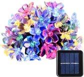 Defiance™️ Kerstverlichting Solar LED Lamp String - Warmwit - Voor binnen en buiten - DecorativeLighting - Draadloze Lichtsnoeren  -Tuinverlichting zonne-energie - Vershillende Kleuren - Multi Colour Bloem Figuur 10 Meter