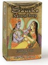 Zeep 'Uplifting Tulsi' (scrub), Prabhuji's Gifts, 100% natuurlijk, vegan, 30 gram