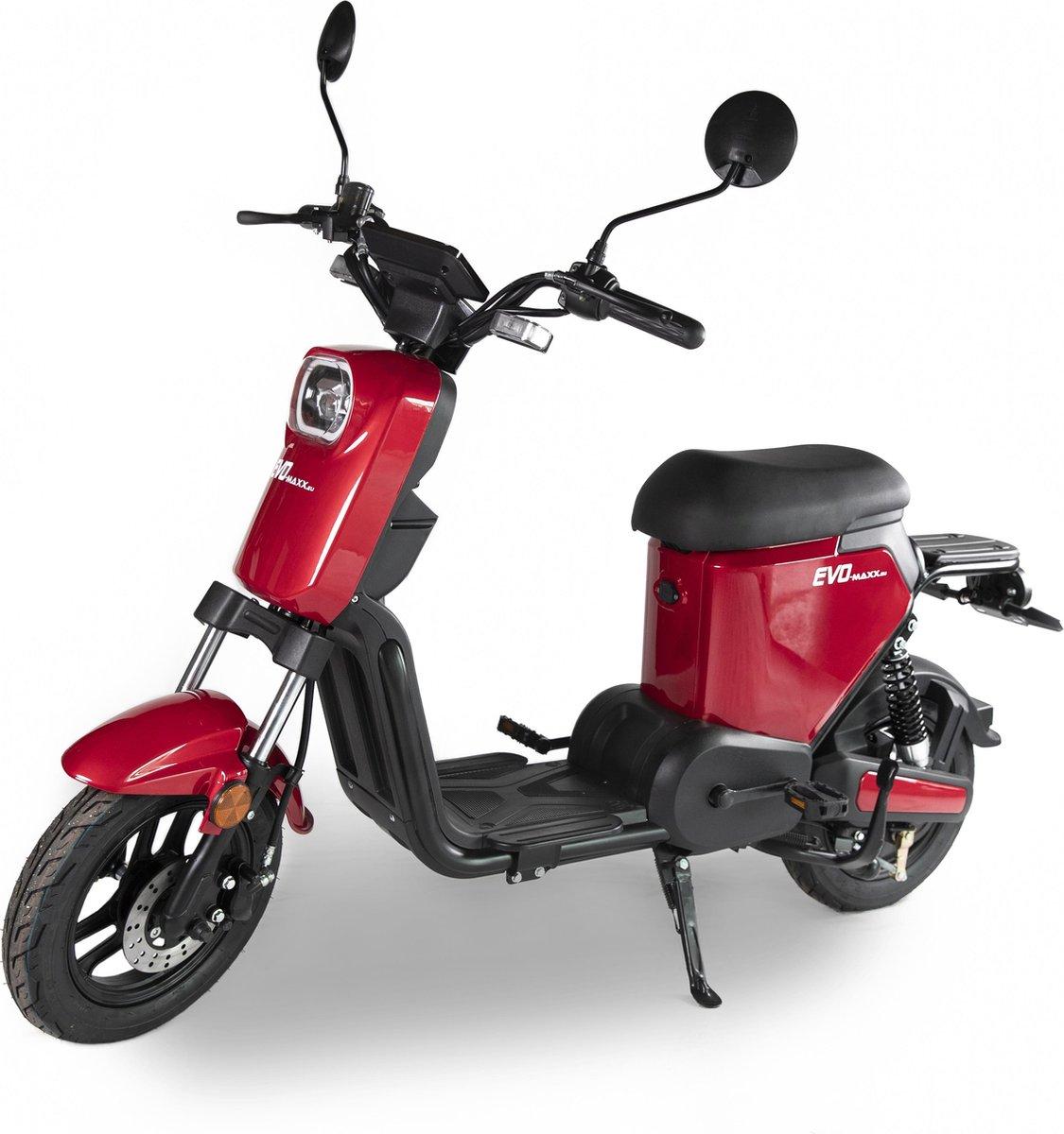 EVO-Maxx E-Line Wine Red + uitneembare Lithium accu, actieradius 45-70km*
