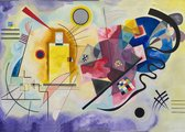 Poster Geel, Rood, Blauw - Kandinsky - Large 50x70 - Abstracte Kunst - 'Yellow-Red-Blue'