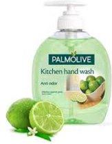 Palmolive Vloeibare Handzeep - Hygiene-Plus Kitchen - 3 x 300 ml - Voordeelverpakking - Anti-bacterieel - Met Limoenextract - Elimineert Keukengeurtjes op de handen