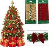 Kerstrikken | 12 STUKS | GOUD ||Strik Kerstversiering | Kerstversiering Voor Binnen | Strik | Roegaarden