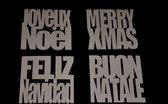 4 kartonnen onderzetters | merry x-mas | kerstdecoratie  | 10cm hoog