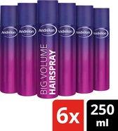 Andrélon Pink Big Volume Haarlak - 6 x 250 ml - Voordeelverpakking