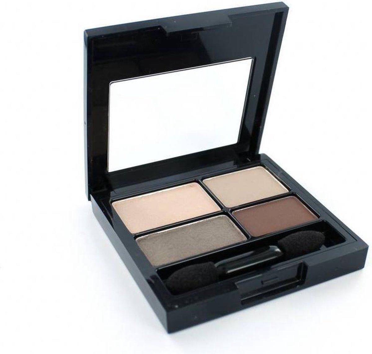 Revlon 16H ColorStay Quad - 500 Addictive - Bruin - Oogschaduw - Revlon