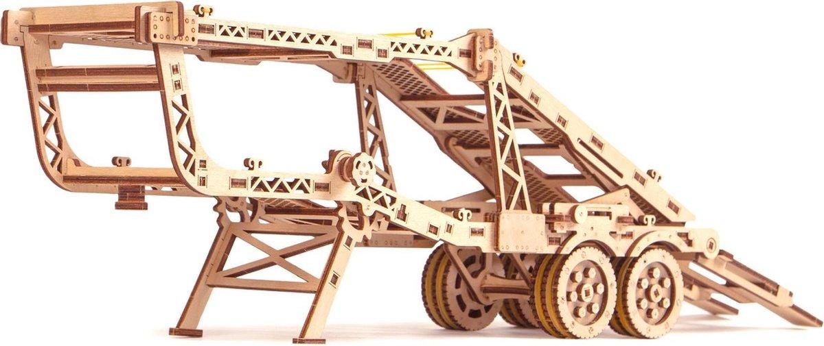 Wood Trick Trailer met Jeep - Uitbreiding Set voor Truck - Houten Modelbouw