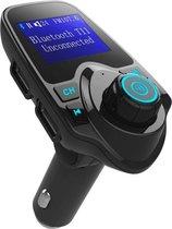 T11 / Bluetooth Transmitter /  Carkit  / FM Transmitter / Bluetooth Carkit / Oplader / Handsfree Bellen / Draadloos Muziek Streamen / Microfoon / Radio / 4 Play Modes / + *GRATIS AUX kabel*