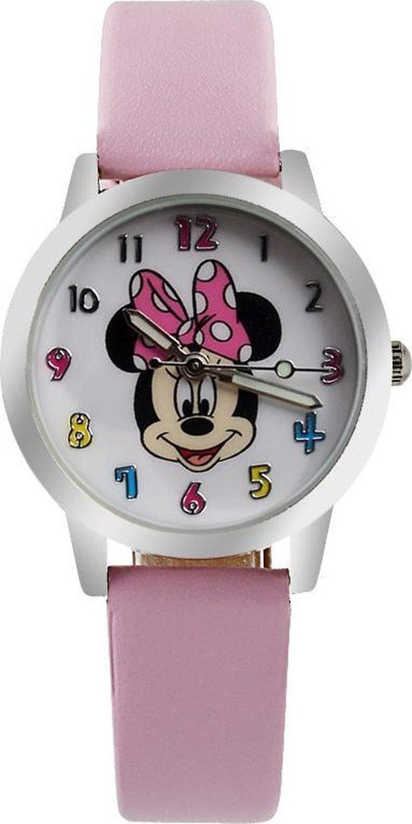 Minnie Mouse horloge met glow in the dark wijzers