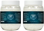 2x 1 KG VitaalBad® Magnesium badzout vlokken bad kristallen - meest Pure en Krachtige verkrijgbaar - voor voetbad of ligbad - 2x pot 1000 gram