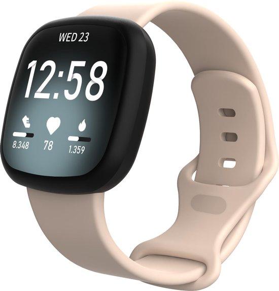 Fitbit Versa 3 / Sense sport band - pink sand - ML - Horlogeband Armband Polsband